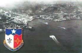 Remember The Alamo : souviens-toi d'Alamo. Devise du 141st Infantry. Les vagues se succèdent au matin du 15/8/1944.
