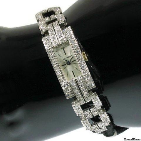 Montre platine diamants Antheor