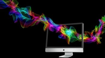 coloured lines running through pc screen concepts related to website design