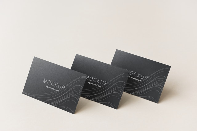 image of 3 business cards concept related to what is branding