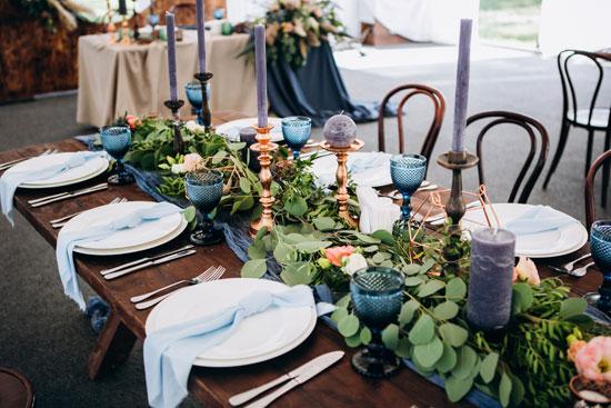 Στολισμός γάμου με μπλε χρώμα