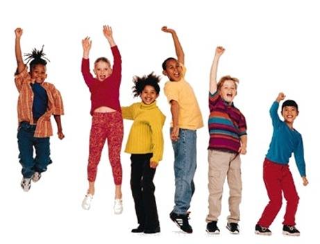 children-jump
