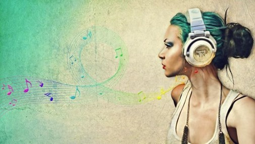 Headphones-Women-Music