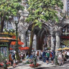 "On the Boulevards of Paris  | 36"" x 36"" acrylic on canvas"
