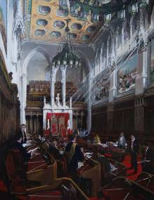 "The Senate Chamber | 60"" x 46"" acrylic on canvas 