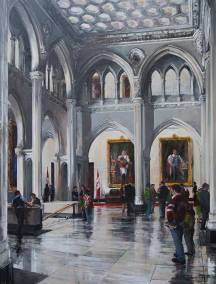 "The Senate Foyer | 60"" x 46"" acrylic on canvas 