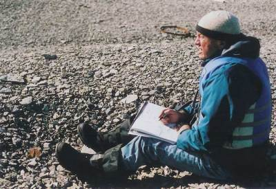 2006. Tony on Beechey Island, Nunavut, Canadian Arctic.