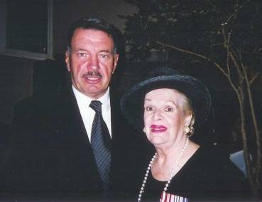 2002. Recipients of the Queen's Golden Jubilee Medal, Tony with famed contralto Maureen Forrester.