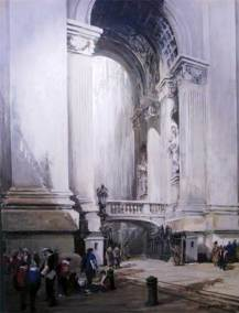 "The Arch of the Bells, St Peter's, Rome, Italy |  48"" x 36"" acrylic on canvas 
