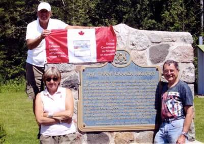 2008. Tony with Heidi Burkhardt and Maurice Snelgrove on the shore of Lake Superior.