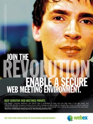WebEx Revolution Print Ad