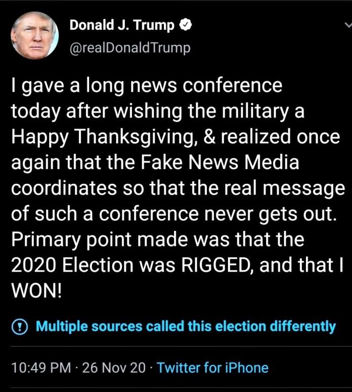 President Trump Roasts Reporter's Turkey on Thanksgiving Day