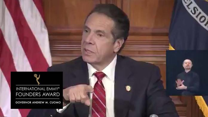 New York Governor Cuomo Wins Emmy For Virus Press Briefings