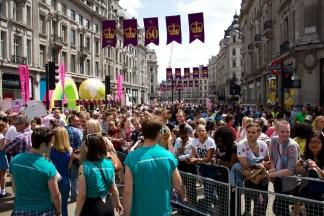 Regent Street: full to bursting.
