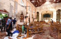 NEGOMBO, SRI LANKA - APRIL 21: Sri Lankan officials inspect St. Sebastian's Church in Negombo, north of Colombo, after multiple explosions targeting churches and hotels across Sri Lanka on April 21, 2019, in Negombo, Sri Lanka. At least 207 people have been killed and hundreds more injured after multiple explosions rocked three churches and three luxury hotels in and around Colombo as well as at Batticaloa in Sri Lanka during Easter Sunday mass. According to reports, at least 400 people were injured and are undergoing treatment as the blasts took place at churches in Colombo city as well as neighboring towns and hotels, including the Shangri-La, Kingsbury and Cinnamon Grand, during the worst violence in Sri Lanka since the civil war ended a decade ago. Christians worldwide celebrated Easter on Sunday, commemorating the day on which Jesus Christ is believed to have risen from the dead. (Photo by Stringer/Getty Images)