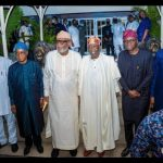 South-West Governors Visit Tinubu, Fayemi Absent (Photos)