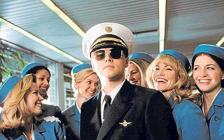 DICAPRIO: with foxy flight attendants in Catch Me If You Can