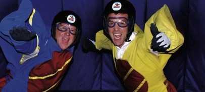 LIFESON & MERCER: indoor skydiving