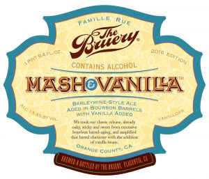 Mash and Vanilla barrel aged barleywine by The Bruery
