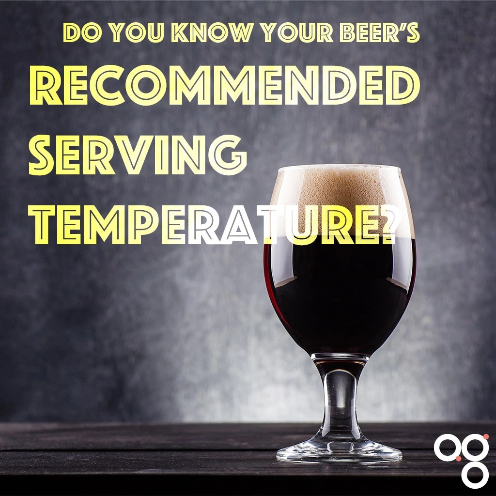 Recommended serving temperature for beer