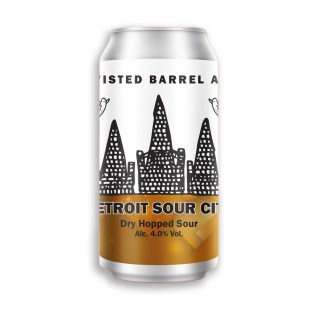 Twisted Barrel Ale, Detroit Sour City. Light, bracing acidity and a refreshing fruity flavour.