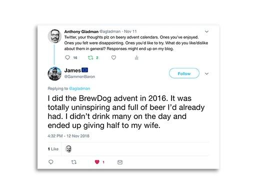 Tweet from James