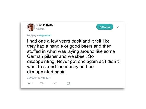Tweet from Ken O'Kelly
