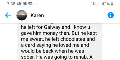 Anthony Grant, aka Antiono Grant Jr, used money he took in a scam to buy chocolates for Karen Harris.