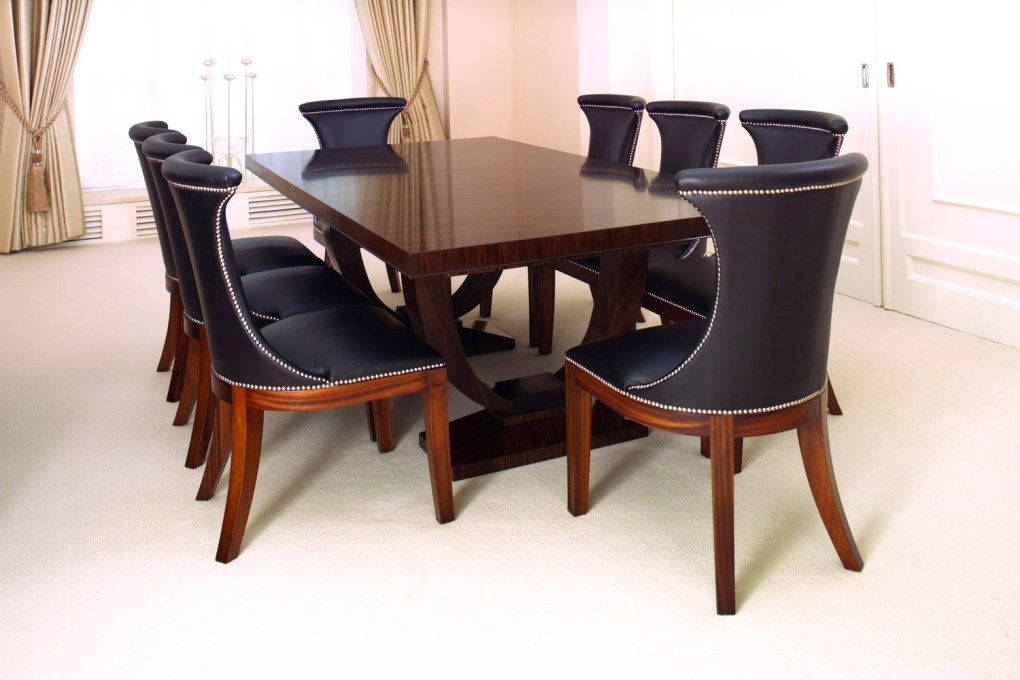 Emile Jacques Ruhlmann Styled Dining Table in Macassar Ebony with Ebonised Detailing ii