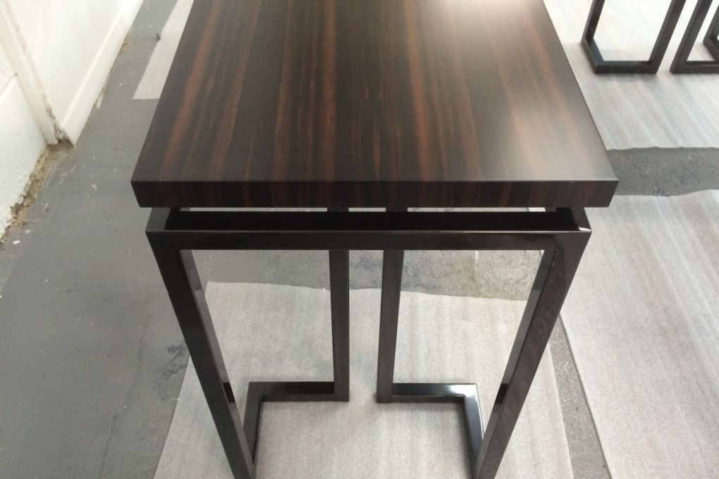 Gunmetal Steel and Ebony Table-gallery