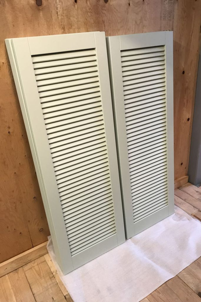 Solid Hardwood Painted Exterior Shutters Made to Measure -gallery