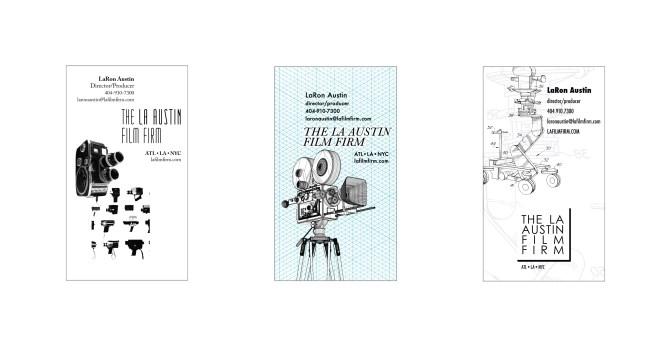 3 Business Card Designs for LaRon Austin