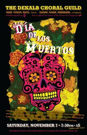 DeKalb Choral Guild - Día De Los Muertos Concert Poster