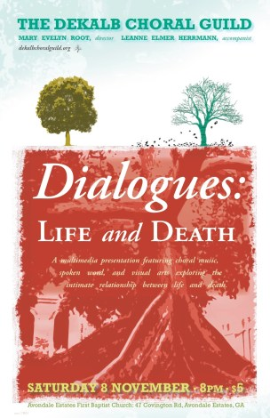 DeKalb Choral Guild - Dialogues: Life and Death Concert Poster