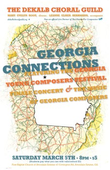 DeKalb Choral Guild - Georgia Connections Concert Poster