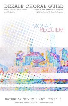 DeKalb Choral Guild - Mosaic Requiem Concert Poster