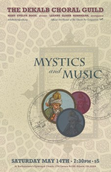 DeKalb Choral Guild - Mystics and Music Concert Poster