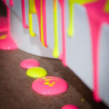Fluorescent Pink & Yellow #2