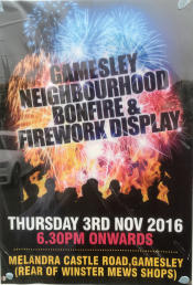 Gamesley Community Bonfire & Fireworks 2016