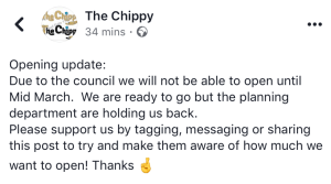 Winster Mews Chippy picture of a facebook post