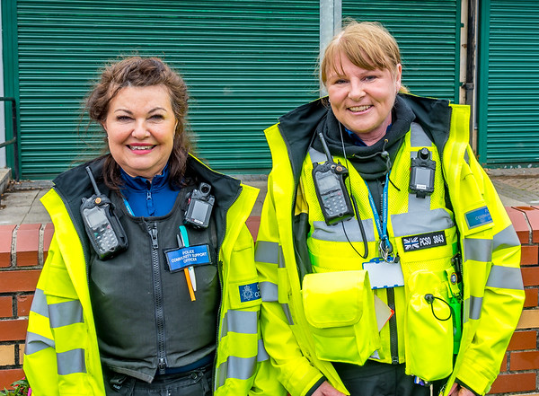 Happy Retirement to PCSO Anne Gribbon - picture of PCSO Anne Gribbon and PCSO Tracey Collins