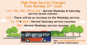 Bus Time Changes June 2021