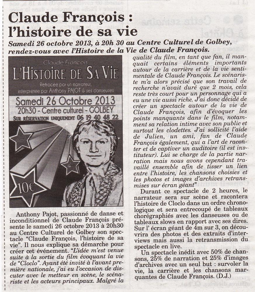 Claude François l'histoire de sa vie !