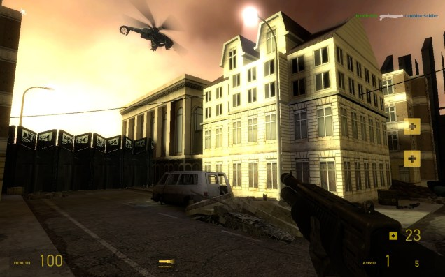 Syn_urbanchaos is a map that I developed before attending college, as part of the Synergy mod team for Half-life 2. (Synergy is a modification that added co-operative online gameplay to Half-life 2, along with some of our own custom content).