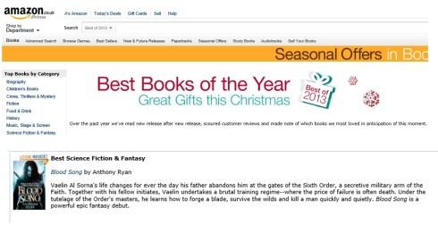 Amazon best 2013