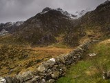 Y Garn east ridge with dry stone wall