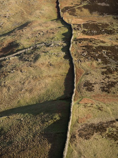 Dry stone walls and long shadows