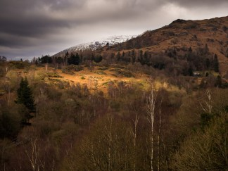 The headland that separates Grasmere from Rydal Water