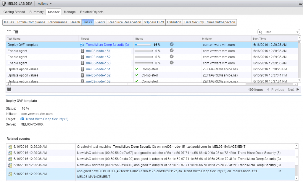 NSX Bytes: Trend Deep Security 9 6 DSVA Deployment Gotchya