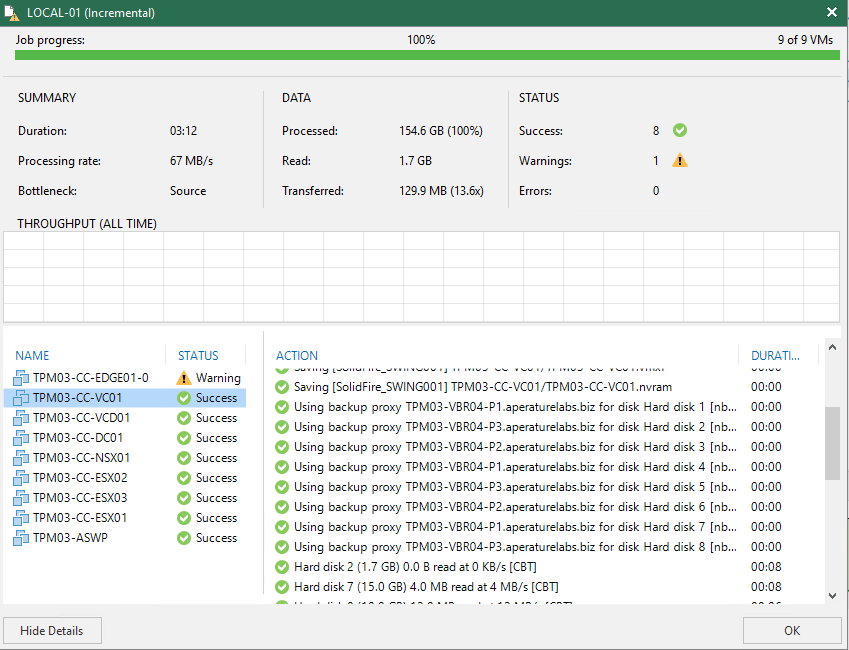 More Than Meets the Eye    Veeam Backup Performance